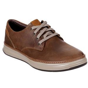 🆕Sketchers Moreno Leather Shoe in Brown
